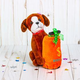 Мягкая игрушка-копилка музыкальная 'Пёсик с бантиком', цвета МИКС Ош