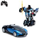 Робот-трансформер радиоуправляемый Bugatti Veyron, работает от аккумулятора, масштаб 1:22, МИКС mz 2331X