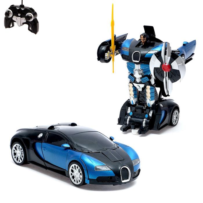"""Робот-трансформер радиоуправляемый """"Автобот"""", с аккумулятором, масштаб 1:22, МИКС mz 2331X"""