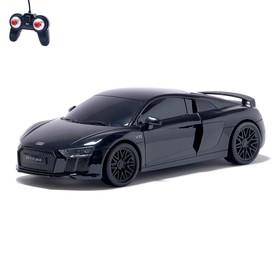 Машина радиоуправляемая Audi R8, 1:24, работает от батареек, свет, цвет чёрный