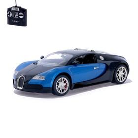 Машина радиоуправляемая Bugatti Veyron, 1:14, работает от аккумулятора, свет, цвет синий