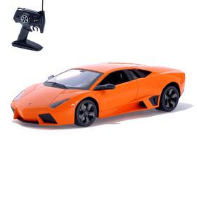 Машина радиоуправляемая Lamborghini Revento, 1:10, работает от аккумулятора, свет, цвет оранжевый