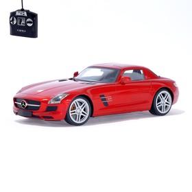 Машина радиоуправляемая Mercedes-Benz SLS AMG, масштаб 1:14, работает от аккумулятора, свет, цвет красный, mz 2024