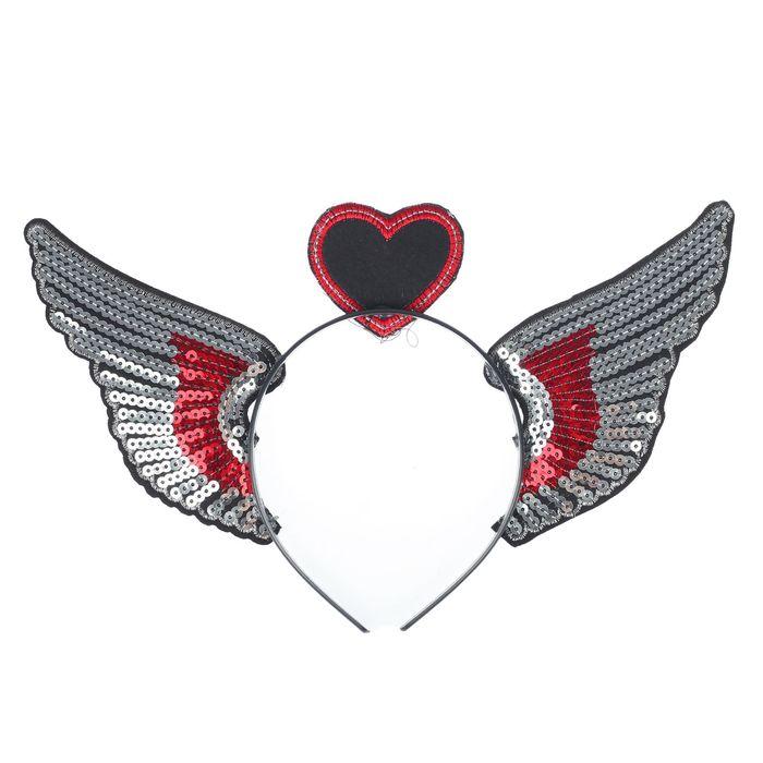 Карнавальный ободок «Крылья» - фото 456212