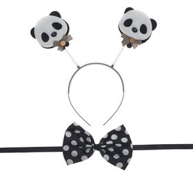 "Carnival set ""Panda"" 2 pieces: headband, butterfly"
