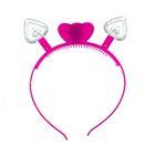 Карнавальный ободок световой «Сердечки», цвета МИКС