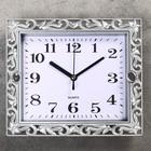 "Wall clock, series: Classic, ""Irene"", color silver 21х18 cm"