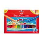Фломастеры 24цв Faber-Castell с убирающимся наконечником, картонной коробке  150124