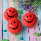 """Мягкий мяч """"Смайл"""", 6,3 см, цвет красный"""