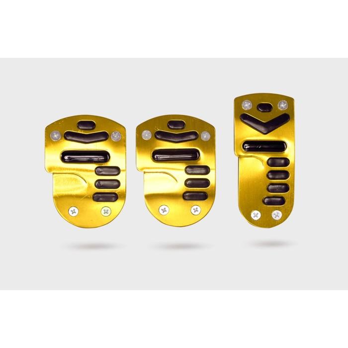 Накладки на педали,  чёрно-жёлтый, 3 шт.
