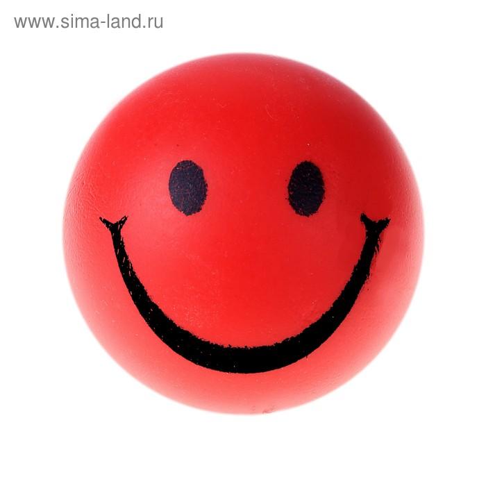 """Мягкий мяч """"Смайл"""", 7 см, цвет красный"""