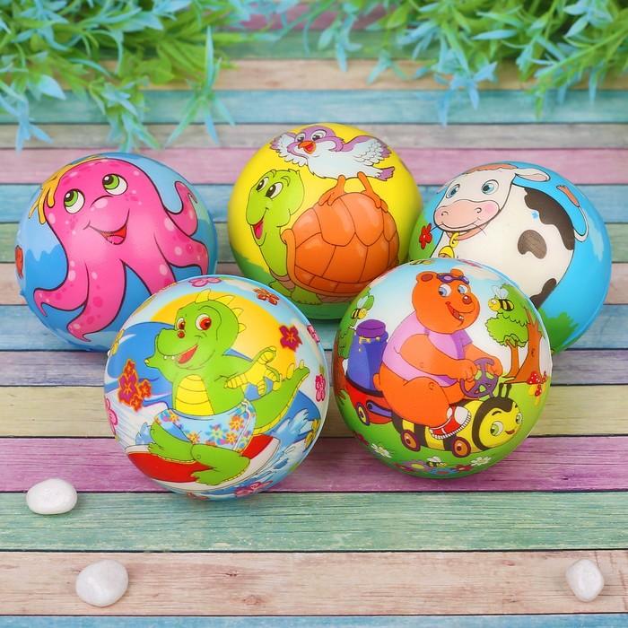 Мягкий мяч «Зверушки», цвета МИКС