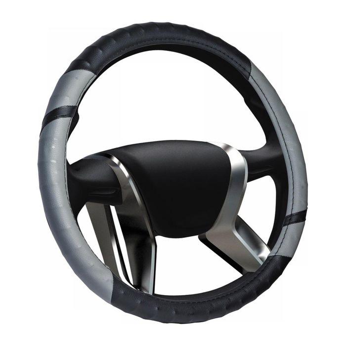Braid on the steering wheel VAZ 2108-15 vinyl, gray