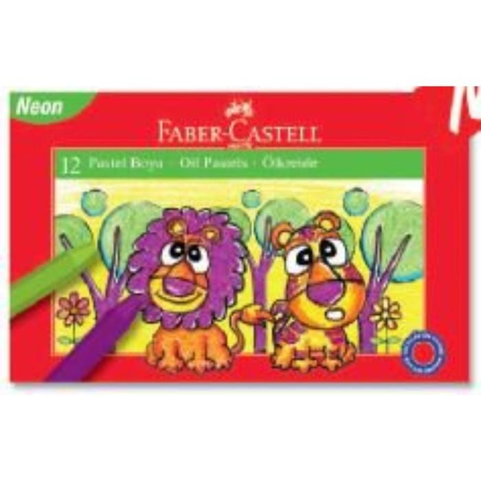 Пастель масляная детская 12цв Faber-Castell 74мм неоновые цвета 125111