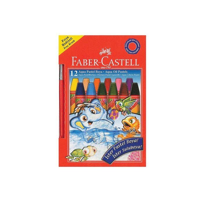 Пастель масляная детская 12цв Faber-Castell 74мм на водной основе, карт/короб 125400