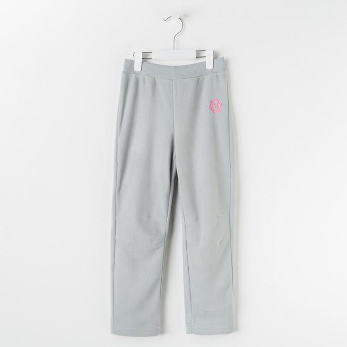 Брюки для девочки, рост 104 см, цвет серый