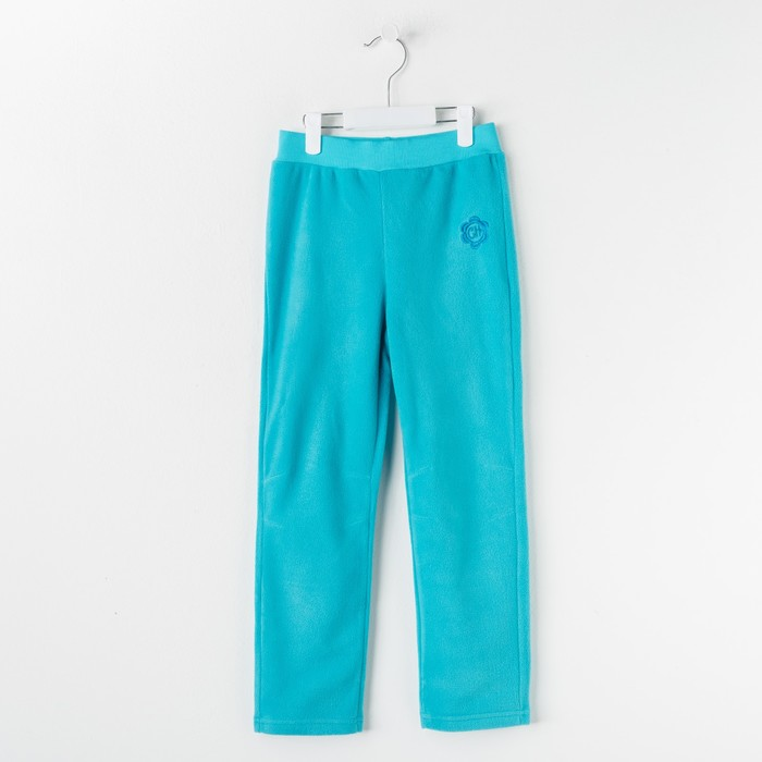 Брюки для девочки, рост 104 см, цвет бирюзовый