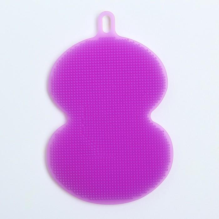 Мочалка детская для купания силиконовая, фигурная, от 6 мес., цвета МИКС