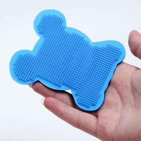 Мочалка детская для купания силиконовая «Собачка», от 6 мес., цвета МИКС