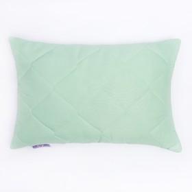 Подушка высокая 40*60см, зел., бамбуковое волокно/натур.латекс, микрофибра, пэ100% Ош