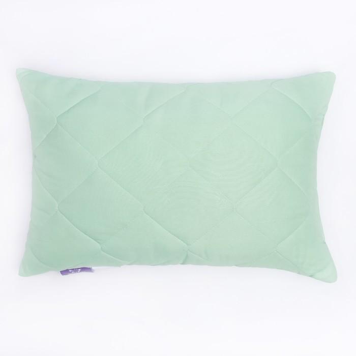Подушка высокая 40*60см, зел., бамбуковое волокно/натур.латекс, микрофибра, пэ100%