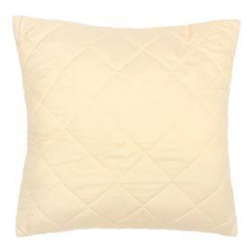 Pillow Sheep wool high 68 * 68cm, beige., Sheep wool / siliconized fiber, microfiber, pe1