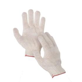 Перчатки, х/б, вязка 10 класс, 3 нити, размер 9, без покрытия, белые Ош