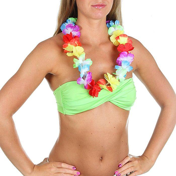 Ожерелье гавайское световое многоцветное