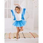 """Карнавальный набор """"Снежинка"""", 2 предмета: крылья, юбка двухслойная, цвет синий"""