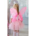 """Карнавальный набор """"Бабочка"""", 2 предмета: крылья, юбка трехслойная в горох, 4-6 лет"""