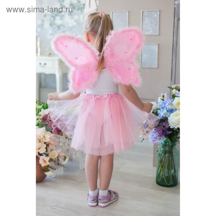 """Карнавальный набор """"Бабочка"""", 2 предмета: крылья с пухом, юбка трёхслойная, 3-5 лет"""