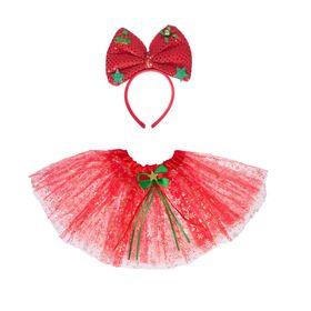 Карнавальный набор «Снежинка», 2 предмета: ободок, юбка двухслойная, цвет красный