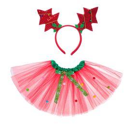 Карнавальный набор «Ёлочки», 2 предмета: ободок, юбка двухслойная