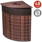Корзина для белья бамбуковая угловая ATHENA 48л