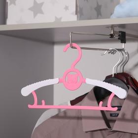 Вешалка-плечики детская, раздвижная, размер 30-34 'Мишка', цвет МИКС Ош