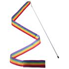 Лента гимнастическая 4 м, с палочкой, цвет радуга