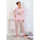 Пижама женская (джемпер, брюки) Сова-2 цвет коралл, р-р 48
