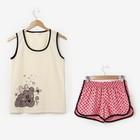Пижама женская (майка, шорты) Ассорти-1 цвет ассорти, р-р 44