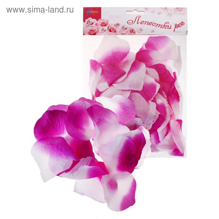Лепестки роз, цвет бело-фиолетовый