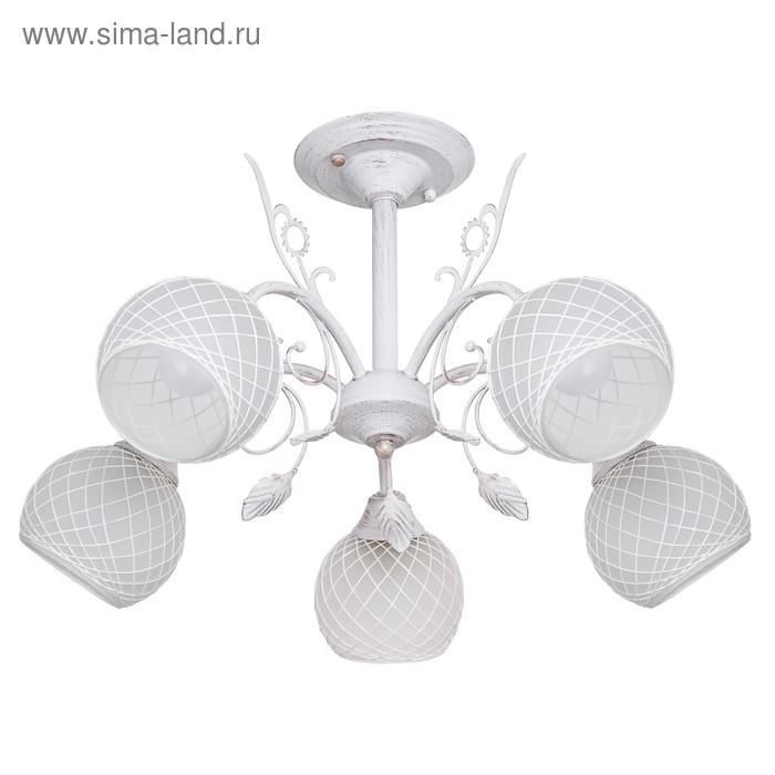 """Люстра """"Астра"""" 5 ламп E27 60 Вт белый 54х54х37 см."""