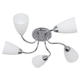 """Люстра """"Агалия"""" 5 ламп E14 60 Вт хром 56х56х16 см."""