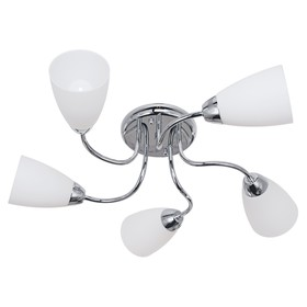 Люстра 'Агалия' 5 ламп E14 60 Вт хром 56х56х16 см. Ош