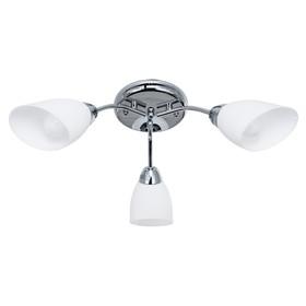 """Люстра """"Агнес"""" 3 лампы E14 60 Вт хром 60х60х17 см."""