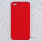 """Чехол для iPhone 7 Plus, материал TPU, мягкое """"велюровое"""" покрытие,"""
