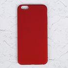 Чехол для iPhone 6 Plus, пластик, матовое покрытие Soft touch, красный