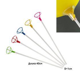 Трубочка+зажим для шаров, d=10 мм, длина 40 см Ош