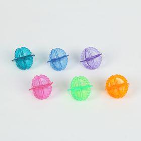 Набор шаров для стирки, d=5 см, 6 шт, цвет МИКС