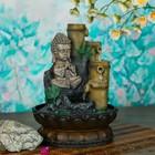 """Фонтан """"Маленький будда медитируют у бамбукового родника"""" 28х19х19 см"""
