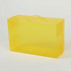 Короб для хранения с ручкой 21х33х13 см, цвет желтый