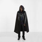 """Карнавальный плащ """"Хэллоуин"""" с капюшоном, цвет чёрный, длина 120 см"""
